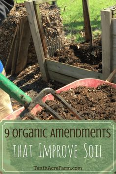 Are you dealing with soil that is high in clay or sand? Most gardeners need to amend soil to improve it, and here are some of my favorite organic soil amendments that can help.