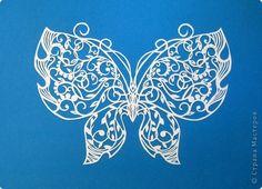 Картина панно рисунок Вырезание Бабочки_Анастасия Махнач Бумага фото 2
