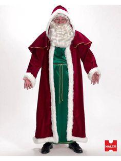 Halloween Mens Victorian Santa Costume