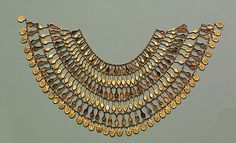 Broad collar of Nefer Amulets  Period: New Kingdom  Dynasty: Dynasty 18  Date: ca. 1504–1450 B.C.