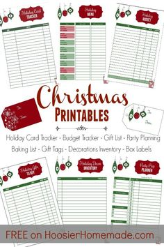 holiday inspiration Grab your FREE Christmas Printables! Get organized with the Holiday Card Tracker, Budget Tracker, Gift List, Party Planning Sheet and MORE! Join us for our 100 Days of Homemade Holiday Inspiration! Christmas Planning, Christmas On A Budget, Homemade Christmas, Holiday Fun, Holiday Cards, Christmas Holidays, Christmas Cards, Organized Christmas, Christmas Ideas
