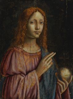 Milanese School, 16th Century; SALVATOR MUNDI, oil on panel, 18 3/4  by 14 3/8  in.; 47.5 by 36.5 cm. Salvator Mundi, Ritter Sport, Jesus Face, Cleric, Old Master, Religious Art, 16th Century, Face And Body, Impressionist