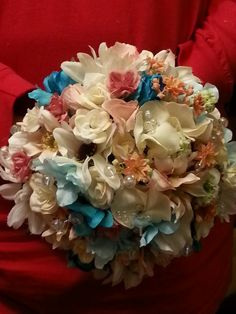one of the bridesmaid bouquets