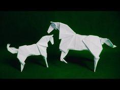3D Horse origami(Komatsu Hideo) - YouTube