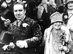 Alfred Hitchcock and Alma Reville's wedding day, December 2, 1926