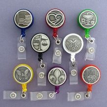 Unique Silver Retractable ID Name Badge Holders in 500+ Cool Designs
