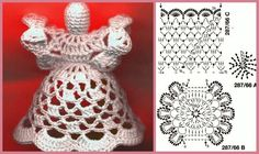 Best 12 Handmade by Ecola – Aniołki 2014 – SkillOfKing. Crochet Snowflake Pattern, Crochet Snowflakes, Crochet Doilies, Crochet Christmas Decorations, Crochet Ornaments, Handmade Christmas, Merry Christmas, Knitting Patterns, Crochet Patterns