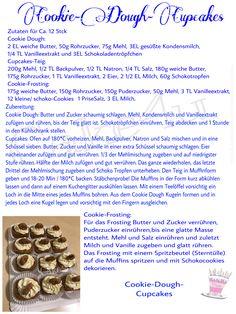 Rezept für Cookie Dough Cupcakes