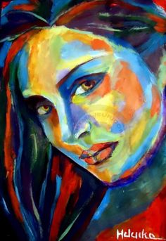 Smiling eyes by Helenka Abstract Portraiture