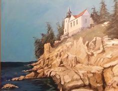 "Bass Harbor by Jack Harkins Acrylic ~ 24"" x 30"""