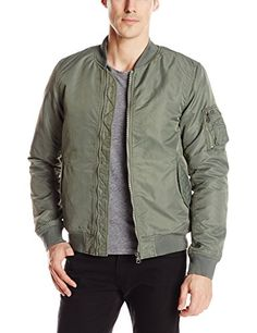 Scotch & Soda Men's Classic Bomber Jacket with Removable Liner, Green, Large Scotch & Soda ++You can get best price to buy this with big discount just for you.++