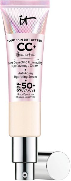 IT Cosmetics Your Skin But Better CC+ Cream Illumination SPF is your color-correcting full coverage anti-aging skincare cream with SPF physical sunscreen and illuminators. Maybelline, Cc Creme, It Cosmetics Cc Cream, Hydrating Serum, Skin Care Cream, Dull Skin, Even Skin Tone, Tinted Moisturizer, Skin Firming