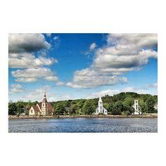 The three churches, Mahone Bay, Nova Scotia