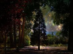 Magical Night at the River by Bobbee Rickard prints, canvas prints, metal prints, framed and matted prints, many choices. . home and business decor; or as a gift; click on image