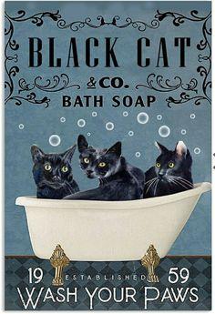 Crazy Cat Lady, Crazy Cats, I Love Cats, Cute Cats, Black Cat Art, Black Cats, C Is For Cat, Cat Signs, Cat Comics