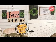 Discover recipes, home ideas, style inspiration and other ideas to try. Cheap Plywood, Shiplap Bathroom, Faux Shiplap, Farmhouse Decor, Modern Farmhouse, Farmhouse Style, River House, Ship Lap Walls, Sharpie