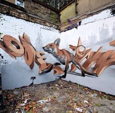 Street Art And Anamorphosis The Creations By ODEITH Street Art - Incredible forced perspective graffiti artist odeith