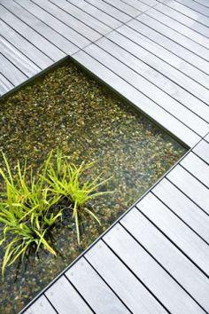 Innfelt vannspeil i terrassedekke