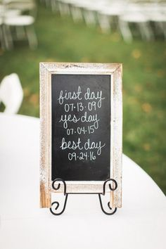 country chic fall wedding sign - First day, Yes Day, best Day!
