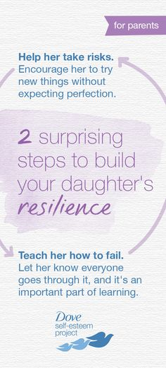 The biggest predictor of success is not IQ, it's resilience. How can you build your daughter's resilience and boost her confidence? Here are 2 tips to get started. Help build positive self-esteem for you and a girl in your life by creating your own self-e Building Self Confidence, Self Confidence Tips, Parenting Advice, Kids And Parenting, Positive Self Esteem, Empowering Parents, Important Quotes, Kids Behavior, Coping Mechanisms