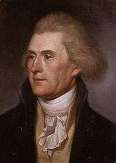 Thomas Jefferson - a ginger among powdered wigs