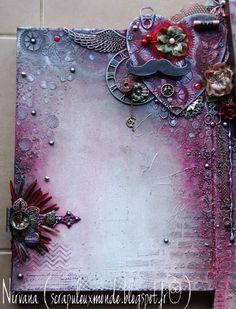 mixed media canvas by Peggy Bertheas via Marjie Kemper's Tuesday's Texture Blog Series