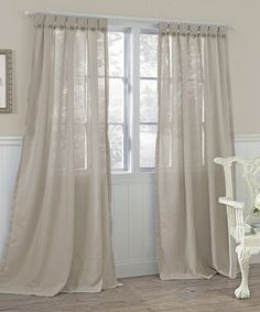 Give your rooms a cozy, cottage appeal with the Easton Tab-Top Semi-Sheer Curtain Panels by Laura Ashley. Each charming, faux linen polyester panel. Tab Top Curtains, Sheer Curtain Panels, Burlap Curtains, Window Panels, Sheer Curtains, Window Curtains, Bedroom Curtains, Bed Bath & Beyond, Diy Design