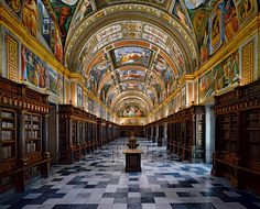 The Library of El Escorial in Madrid, Spain Community Post: 16 Libraries You Have To See Before You Die