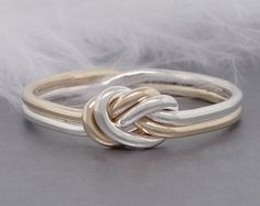 Love knot ring gold and silver ring promise ring by TDNCreations