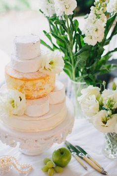 Steps To A Perfect Cheese Wheel Wedding Cake ★ wedding cheese wheel cake 21 Cheese Tower, Cheese Bar, Cheese Shop, Best Cheese, Vegan Cheese, Elegant Wedding Cakes, Wedding Cake Designs, Wedding Ideas, Wedding Tables