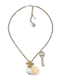 Clockwork and key necklace. Love Marquis & Camus.