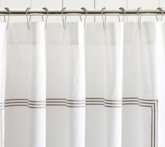 Grand Embroidered Shower Curtain | Pottery Barn