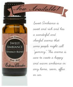 NEW Essential Oil Synergy Blend!