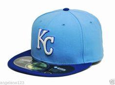 NEW ERA 59Fifty MLB Fitted Hat Cap Kansas City ROYALS Alternate Blue Size 7 3/8 #NewEra #KansasCityRoyals