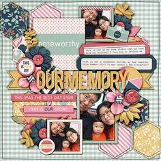 Our memory doodle it up half pack 1 by Lauren Grier and Cindy Schneider Take note by Tickled Pink Studio This layout was created for the Sweet Shoppe Summer Shadowbox contest - come join the digital scrapbooking fun at SweetShoppeDesign.com!