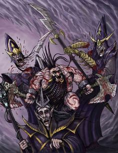 Compilation of Homebrew Chaos Dwarf Artwork & Concept Sketches Fantasy Battle, Fantasy Races, Fantasy Art, Warhammer Dark Elves, Warhammer Fantasy, Fantasy Characters, Fictional Characters, Dark Elf, Dwarf