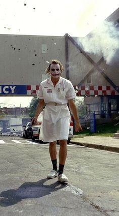 Heath Ledger as the Joker in The Dark Knight Joker Images, Joker Pics, Joker Art, Joker Batman, Gotham Batman, Batman Art, Batman Robin, Heath Ledger Joker, Joker Nurse