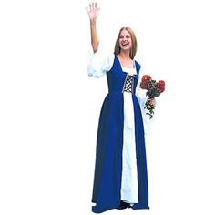 Renaissance Costume - Fair Maiden's Dress(BLUE) - Small/Medium - Click image twice for more info - See a larger selection of Women Medieval Renaissance Costumes at http://costumeriver.com/product-category/womens-medieval-renaissance-costumes/  - women, halloween costumes, halloween fashion , classic costume, holidays, event, trick or treat , gift ideas, costumes, disguise.