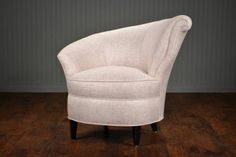 Vintage Linen Harp Chairs - Mecox Gardens