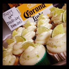 B's birthday was a couple weekends ago, and he's a beer fan. For Valentine's Day I made him Blue Moon cupcakes, so for his birthday, I went with Corona Cupcakes. He loved them. Hi…