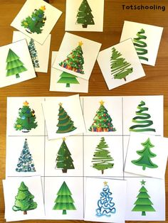 Christmas Tree Learning Activities for Toddlers & PreK | Totschooling - Toddler and Preschool Educational Printable Activities