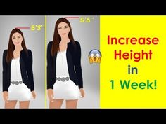 3 Secret Tips to Increase Height Gym Workout For Beginners, Gym Workout Tips, Easy Workouts, Workout Videos, Increase Height Exercise, Tips To Increase Height, Get Taller Exercises, Side Fat Workout, Height Growth