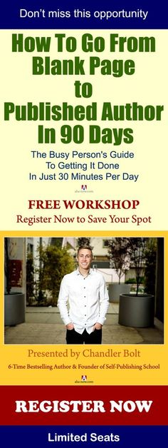 Learn how to go from blank page to published author in 90 days. Get access to the busy person's guide to get it done in just 30 minutes per day! Join this Free Workshop. Limited seats! #makemoneyonline #makemoneyfromhome #workshop #marketing #onlinebusine Make Money Online, How To Make Money, Best Blogs, Online Business, Business Products, That Way, Everything, Join, Positivity