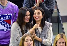 _________ Candids __________ Victoria and Madison, - New York Rangers vs Toronto Maple Leafs in NYC