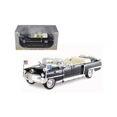 Brand new scale diecast car model of 1956 Cadillac Presidential Limousine Black die cast model car by Signature Models. Brand new box. Toy Model Cars, Diecast Model Cars, Star Wars, City Car, Rubber Tires, Fire Engine, Ford Models, Green And Purple, Scale Models