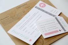 Travel Wedding incursions - Kraft Vintage Style Airmail Travel Ticket Wedding Invitation - Vintage Wedding Stationery Scotland - Beach Wedding. Wedding Abroad