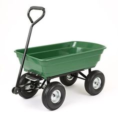 125l garden green cart trolley dump wheelbarrow tipper trailer