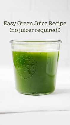 Easy Green Juice Recipe, Green Juice Recipes, Healthy Juice Recipes, Protein Shake Recipes, Green Smoothie Recipes, Healthy Juices, Smoothie Diet, Healthy Smoothies, Healthy Drinks