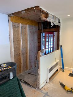 Cutting A Wall Down To Make A Half Wall - Concord Carpenter Lvl Beam, Wood Edging, Laminated Veneer Lumber, Plywood Edge, Finish Nailer, Porch Roof, Half Walls, Roof Lines, Mitered Corners
