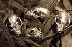 Bat Skull Cabinet Hardware, Antique Silver (Made in NYC) on Etsy